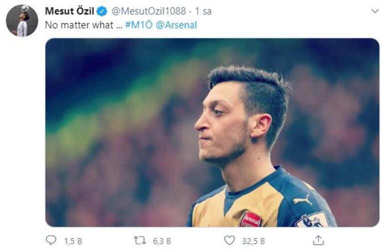 Fenerbahçe ile anılan Mesut Özilden Arsenal paylaşımı