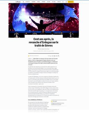 Fransız Le Monde gazetesi: Erdoğan Sevrden intikamını alıyor