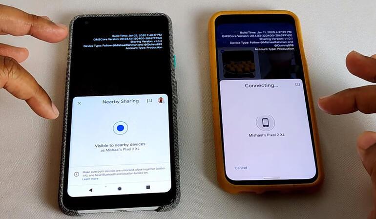 Google Nearby Share nedir Android telefonlara müthiş özellik
