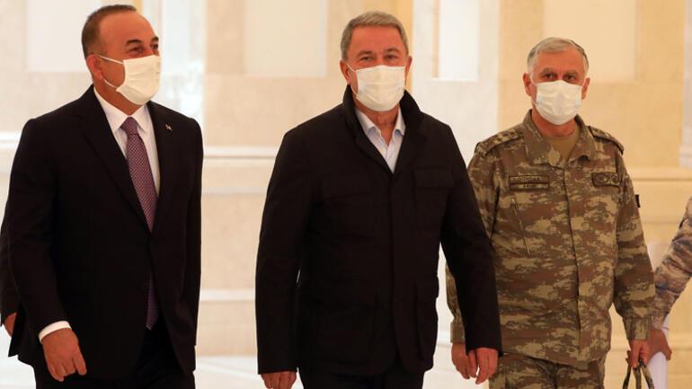 Azerbaycan kritik zirve Aliyev, Bakan Çavuşoğlu ve Akarı kabul etti