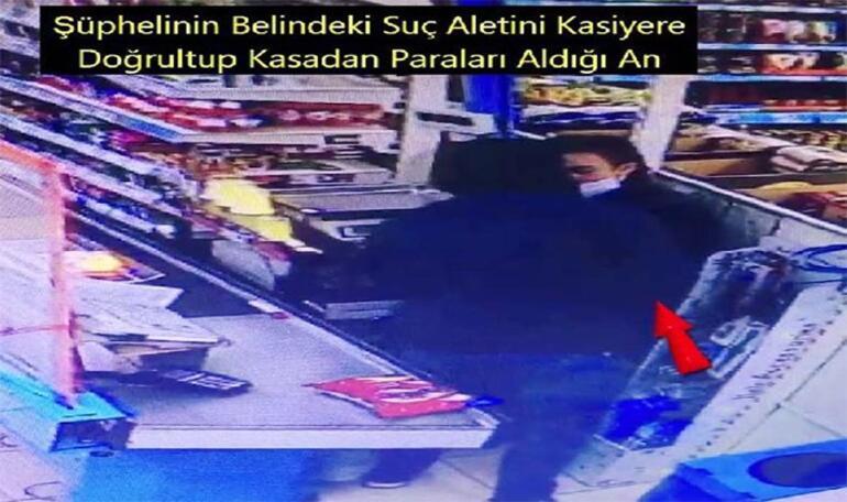 Gaziantepte market kasasını soyan şüpheli yakalandı