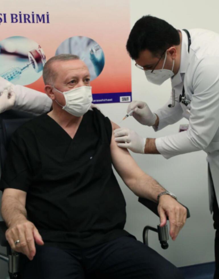 Son dakika haberi: Cumhurbaşkanı Erdoğan corona virüsü aşısı yaptırdı, Telegramdan paylaştı İşte ilk fotoğraf...