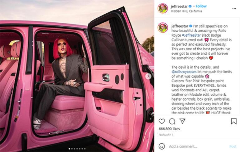 Sosyal medya fenomeni Jeffree Star trafik kazası yaptı, hastaneye kaldırıldı